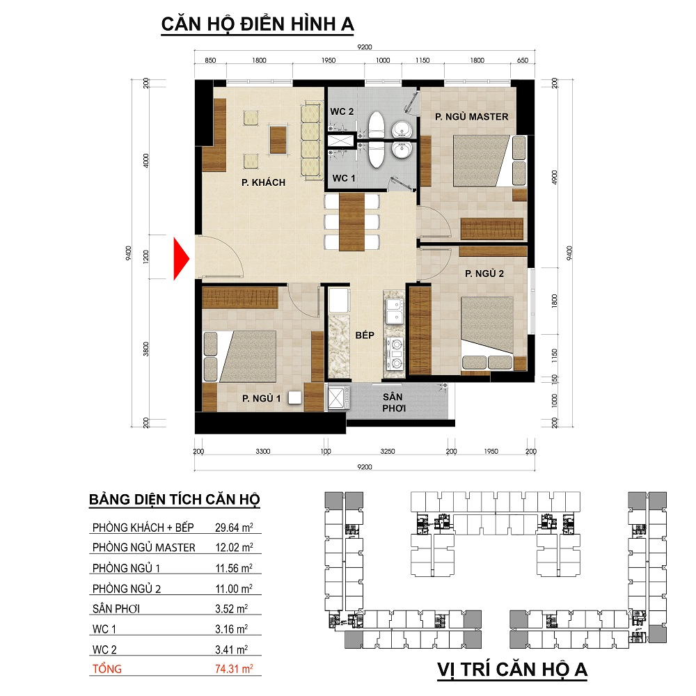 can ho green river 74 m2
