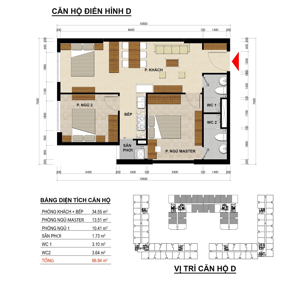 can ho green river 66 m2